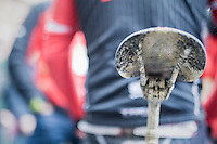 post-race saddle<br /> <br /> 11th Strade Bianche 2017