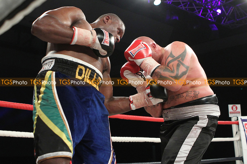 Dillian Whyte vs Sandor Balogh at the Bluewater Shopping centre Kent, promoted by Hennessy Sports - 13/10/12 - MANDATORY CREDIT: Chris Royle/TGSPHOTO - Self billing applies where appropriate - 0845 094 6026 - contact@tgsphoto.co.uk - NO UNPAID USE..