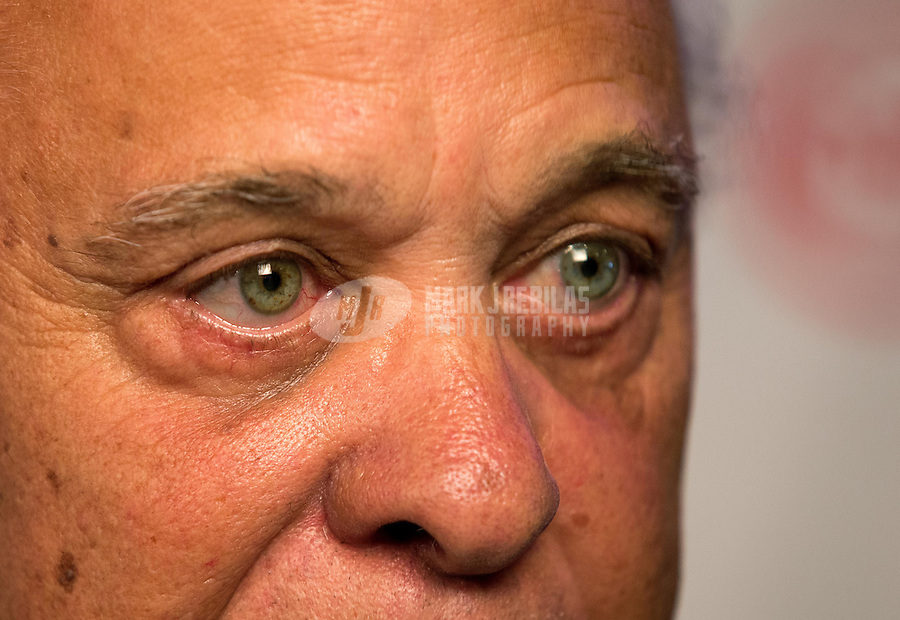 Aug. 29, 2013; Avon, IN, USA: NHRA Detailed view of the eyes of NHRA former driver Don Prudhomme on the red carpet prior to the premiere of Snake & Mongoo$e at the Regal Shiloh Crossing Stadium 18. Mandatory Credit: Mark J. Rebilas-