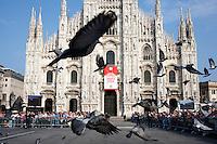 Milano: piazza Duomo durante l'insediamento del nuovo arcivescovo di Milano Angelo Scola ..