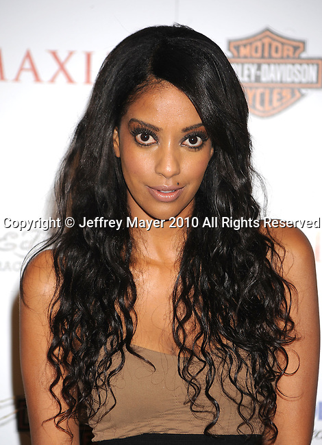 LOS ANGELES, CA. - May 19: Azie Tesfai arrives at the 11th Annual MAXIM HOT 100 Party at Paramount Studios on May 19, 2010 in Los Angeles, California.