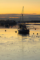 The River Irvine and Irvine Harbour at dusk, Irvine, Ayrshire<br /> <br /> Copyright www.scottishhorizons.co.uk/Keith Fergus 2011 All Rights Reserved