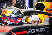 23rd March 2018, Melbourne Grand Prix Circuit, Melbourne, Australia; Melbourne Formula One Grand Prix, Friday free practice; Max Verstappen of the Netherlands sits in the (33) Aston Martin Red Bull Racing RB14 TAG Heuer