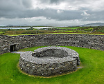 County Kerry, Ireland: Cahergall stone fort, Iveragh peninsula, a stone structure from the iron age