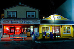 Louie's Pizza and Bach's candy are fixtures near the beach at Rehoboth Beach, Delaware, USA.  © Rick Collier