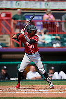 Altoona Curve Alfredo Reyes (13) at bat during an Eastern League game against the Erie SeaWolves and on June 4, 2019 at UPMC Park in Erie, Pennsylvania.  Altoona defeated Erie 3-0.  (Mike Janes/Four Seam Images)