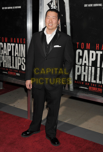 John Patrick Barry<br /> Premiere of &quot;Captain Phillips&quot; held at the Academy of Motion Picture Arts and Sciences, Beverly Hills, California, USA.<br /> September 30th, 2013<br /> full length suit black   <br /> CAP/ROT/TM<br /> &copy;Tony Michaels/Roth Stock/Capital Pictures