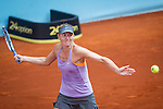 The tennis player Maria sharapova during the match against Samantha Stosur  in the Madrid Open Tennis Tournament. In Madrid, Spain, on 08/05/2014.