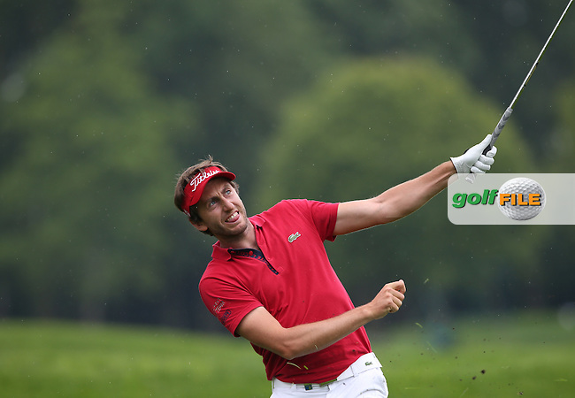 Edouard Espana (FRA) wobbles as he plays second shot to the 13th during Round Three of the 2015 BMW International Open at Golfclub Munchen Eichenried, Eichenried, Munich, Germany. 27/06/2015. Picture David Lloyd | www.golffile.ie