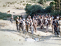 Iraq 1987 <br /> At Balisan, peshmergas ready to attack Iraqi forces near Shaklawa <br /> Irak 1987 <br /> A Balisan, groupe de peshmergas  se preparant a attaquer les forces irakiennes a cote de Shaklawa