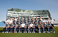 PICTURE BY VAUGHN RIDLEY/SWPIX.COM - Cricket - County Championship Div 2 - Yorkshire County Cricket Club 2012 Media Day - Headingley, Leeds, England - 29/03/12 - The Yorkshire CCC players, coaches and management gather on the pitch at Headingley for the 2012 photo call.