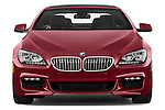 Car photography straight front view of a 2016 BMW 6 Series 650i 3 Door Coupe Front View