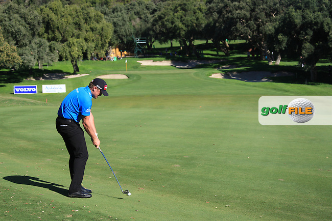 Jamie Donaldson (WAL) during the 2nd day at the  Andalucía Masters at Club de Golf Valderrama, Sotogrande, Spain. .Picture Fran Caffrey www.golffile.ie