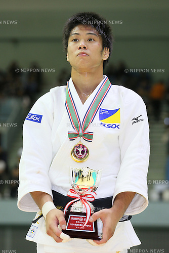 Hirofumi Yamamoto, <br /> NOVEMBER 8, 2014 - Judo : <br /> Kodokan Cup 2014 <br /> Men's -60kg victory ceremony<br /> at Chiba Port Arena, Chiba, Japan. <br /> (Photo by Yohei Osada/AFLO SPORT) [1156]