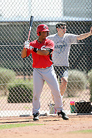 Cameron Satterwhite, Cincinnati Reds 2010 minor league spring training..Photo by:  Bill Mitchell/Four Seam Images.