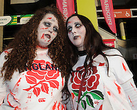 Fans getting into the Halloween mood before the Rugby World Cup Final between New Zealand and Australia - 31/10/2015 - Twickenham Stadium, London<br /> Mandatory Credit: Rob Munro/Stewart Communications