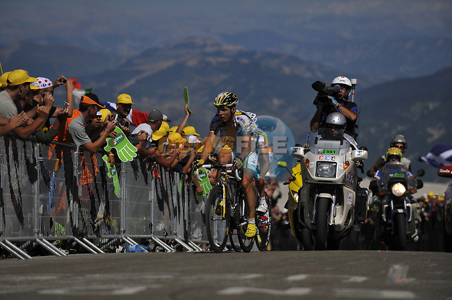 Tony Martin (GER) Team Columbia High Road leads Juan Manuel Garate (ESP) Rabobank up the slopes of Mont Ventoux during Stage19 of the Tour de France 2009 running 167km from Montelimar to Mont Ventoux, France. 25th July 2009 (Photo by Eoin Clarke/NEWSFILE)