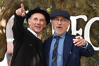 Mark Rylance &amp; Steven Spielberg at the UK premiere of 'The BFG' at the Odeon Leicester Square, London.<br /> July 17, 2016  London, UK<br /> Picture: Steve Vas / Featureflash