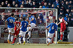 Ross Forsyth heads in to score for Stirling Albion who are officially Rangers bogey team in division 3