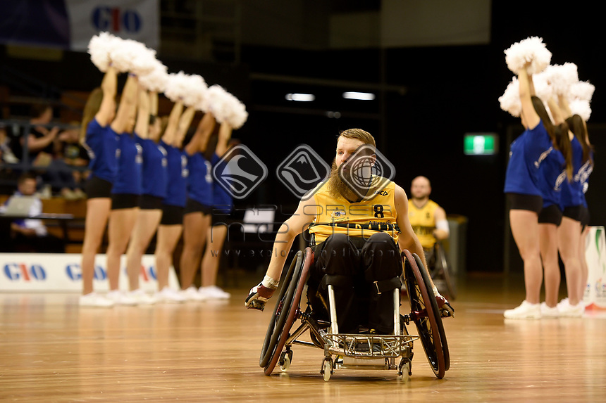 Opening Ceremony - Ben Fawcett (Aus)<br /> Australian Wheelchair Rugby Team<br /> 2018 IWRF WheelChair Rugby <br /> World Championship / Day 1<br /> Sydney  NSW Australia<br /> Sunday 5th August 2018<br /> © Sport the library / Jeff Crow / APC