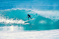 Al Byrne (AUS) surfing Kirra during the swell generated from Cyclone Betsy. Betsy is considered one of the best cyclone swells in the past 20 years. Kirra Point, Coolangatta, Queensland, Australia. circa 1992. Photo: joliphotos.com