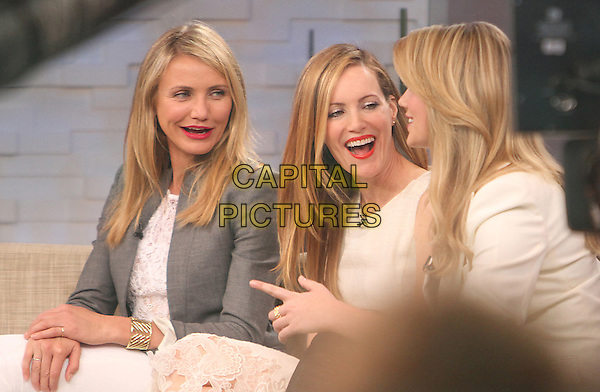 NEW YORK, NY - APRIL 23: Cameron Diaz, Leslie Mann and Kate Upton at ABC's Good Morning America promoting the film , 'The Other Woman' on April 23, 2014.  <br /> CAP/MPI/RW<br /> &copy;RW/ MediaPunch/Capital Pictures