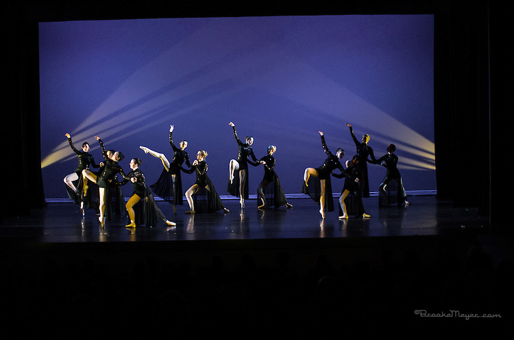 """Matinee Performance of """"Invisible Walls""""  Choreography by Leah Copley Summers.  Production of Cary Ballet Company, 18th Annual Spring Gala. 14 March 2015, Cary Arts Center."""