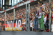 01.08.2015. Cologne, Germany. Pre Season Tournament. Colonia Cup. FC Cologne versus Stoke City.  Cologne fans, young and old, celebrate their sides very late winner.