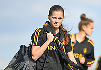 20190228 - LARNACA , CYPRUS : Belgian Shari Van Belle pictured during a Matchday -1 training from The Belgian Red Flames prior to their game against the women team of Austria , on Thursday 28 February 2019 at the Alpha Sports Grounds in Larnaca , Cyprus . This will be the second game in group C for Belgium during the Cyprus Womens Cup 2019 , a prestigious women soccer tournament as a preparation on the European Championship 2021 qualification duels. PHOTO SPORTPIX.BE | DAVID CATRY