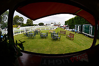 General view of the paddock area before racing during Ladies Evening Racing at Salisbury Racecourse on 15th July 2017