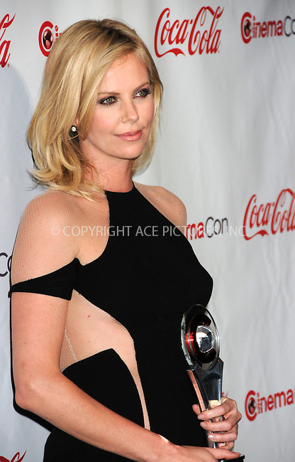 WWW.ACEPIXS.COM . . . . .  ..... . . . . US SALES ONLY . . . . .....April 26 2012, Las Vegas....Charlize Theron at the CinemaCon Awards held at Caesars Palace Hotel on April 26 2012 in Las Vegas....Please byline: FAMOUS-ACE PICTURES... . . . .  ....Ace Pictures, Inc:  ..Tel: (212) 243-8787..e-mail: info@acepixs.com..web: http://www.acepixs.com