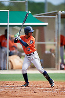 GCL Astros Juan Pineda (37) during a game against the GCL Marlins on July 22, 2017 at Roger Dean Stadium Complex in Jupiter, Florida.  GCL Astros defeated the GCL Marlins 5-1, the game was called in the seventh inning due to rain.  (Mike Janes/Four Seam Images)