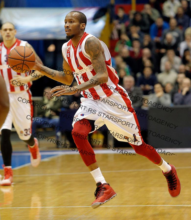 Tarence Kinsey Crvena Zvezda - Cedevita kosarka ABA regionalna liga 4.1.1016. Januar 4. 2016. (credit image & photo: Pedja Milosavljevic / STARSPORT)
