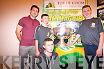 Liam  Twomey, Daniel Casey and Danny with the Sam Maguire in the Top of Coom.