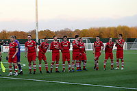 AFC Hornchurch players line up before kick off during AFC Hornchurch vs Enfield Town, Velocity Trophy Final Football at Parkside on 10th April 2019