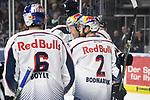 v.l.n.r Muenchens Daryl Boyle (Nr.6) Muenchens Jason Jaffray (Nr.15) #2 Andrew Bodnarchuk von M&uuml;nchen beim Spiel in der DEL, Adler Mannheim (blau) - EHC Red Bull Muenchen (weiss).<br /> <br /> Foto &copy; PIX-Sportfotos *** Foto ist honorarpflichtig! *** Auf Anfrage in hoeherer Qualitaet/Aufloesung. Belegexemplar erbeten. Veroeffentlichung ausschliesslich fuer journalistisch-publizistische Zwecke. For editorial use only.