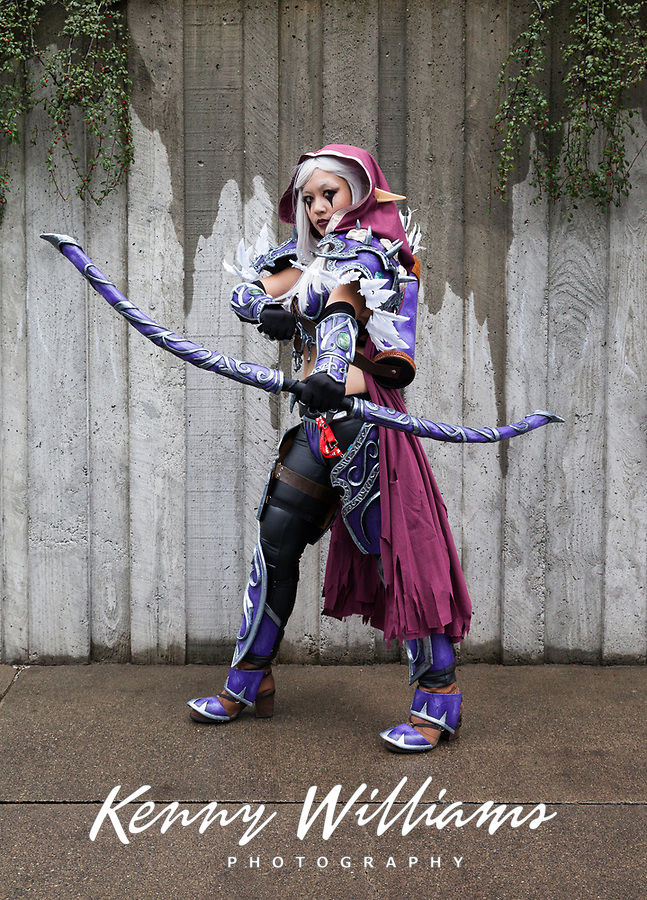 Sylvanas Windrunner World of Warcraft Cosplay, Emerald City Comicon 2017, Seattle, WA, USA.