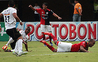 BOGOTA -COLOMBIA- 29 -09-2013. Accion de juego entre los equipos Cucuta Deportivo Y Once Caldas de Manizales.  , partido correspondiente a la doceava fecha de La Liga Postobon segundo semestre jugado en el estadio General Santander / Action game between teams Cucuta Deportivo and Once Caldas of Manizales. , The twelfth game in La Liga Postobon date second half played at General Santander Stadium  .Photo: VizzorImage / Manuel Hernández / Stringer