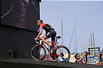 Bauke Mollema (NED) Trek-Segafredo at sign on before Stage 1 of the 100th edition of the Giro d'Italia 2017, running 206km from Alghero to Olbia, Sardinia, Italy. 4th May 2017.<br /> Picture: Eoin Clarke | Cyclefile<br /> <br /> <br /> All photos usage must carry mandatory copyright credit (&copy; Cyclefile | Eoin Clarke)