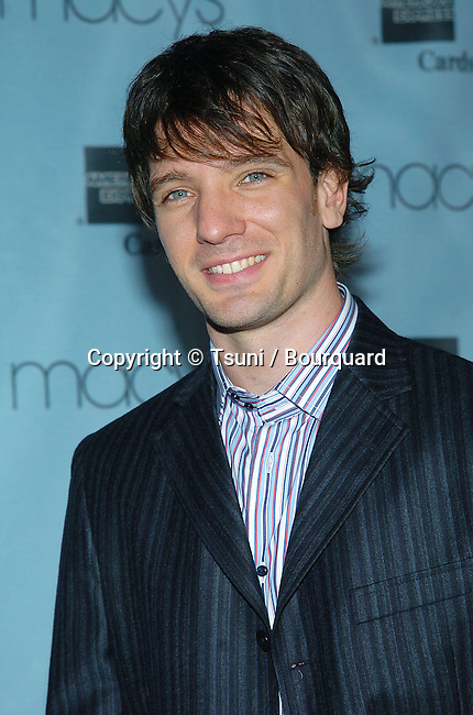JC Chasez at the Macy and American Express Passport fundraising for AID/HIV at the Barker Hangar in Los Angeles. September 30, 2004.