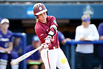 OKLAHOMA CITY, OK - JUNE 04: Carsyn Gordon #12 of the Florida State Seminoles hits against the Washington Huskies during the Division I Women's Softball Championship held at USA Softball Hall of Fame Stadium - OGE Energy Field on June 4, 2018 in Oklahoma City, Oklahoma. (Photo by Shane Bevel/NCAA Photos via Getty Images)