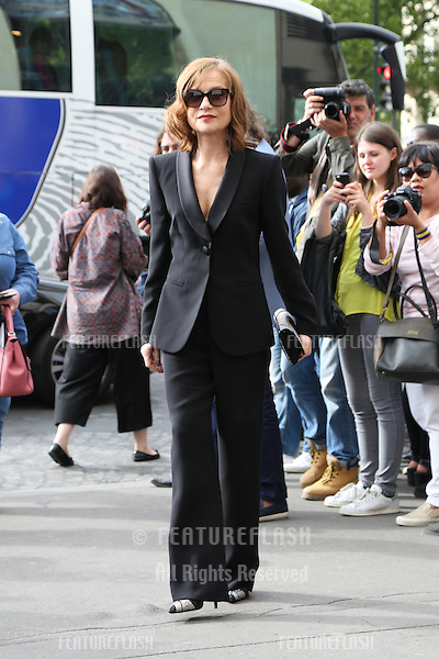 PARIS, FRANCE - JULY 05:  Isabelle Huppert  arrives at the Giorgio Armani Prive Haute Couture Fall/Winter 2016-2017  <br /> July 5, 2016  Paris, France<br /> Picture: Kristina Afanasyeva / Featureflash