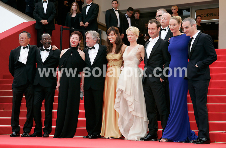 **ALL ROUND PICTURES FROM SOLARPIX.COM**                                             **UK AND SPAIN SYNDICATION RIGHTS ONLY**                                                                                   Arrivals at Les Bien-Aimes premiere and closing night 64th Cannes Film Festival                                                                            .This pic:    Jury at Les Bien-Aimes                                                                                          JOB REF:    13419    CPR Heinz       DATE:  24.05.11                                                          **MUST CREDIT SOLARPIX.COM OR DOUBLE FEE WILL BE CHARGED**                                                                      **MUST AGREE FEE BEFORE ONLINE USAGE**                               **CALL US ON: +34 952 811 768 or LOW RATE FROM UK 0844 617 7637**