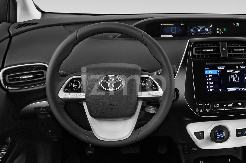 Car pictures of steering wheel view of a 2019 Toyota Prius-Plug-in-Hybride Comfort 5 Door Hatchback Steering Wheel