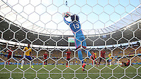 Man of The Match Mexican Goalkeeper Guillermo Ochoa Gathers a Cross