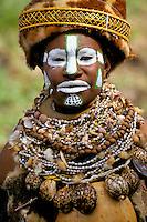 Papua New Guinea, Western Highlands Province, Mt. Hagen Cultural Show,  woman