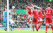 01.03.2015.  Glasgow, Scotland. Scottish Premier League. Celtic versus Aberdeen. Jason Denayer scores the first goal for Celtic in the 37th minute