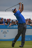 Hideki Matsuyama (JPN) watches his tee shot on 2 during round 1 of the AT&T Byron Nelson, Trinity Forest Golf Club, Dallas, Texas, USA. 5/9/2019.<br /> Picture: Golffile | Ken Murray<br /> <br /> <br /> All photo usage must carry mandatory copyright credit (© Golffile | Ken Murray)