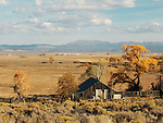 Old wooden barn, autumn, Carson Valley, Nev.