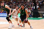 Liga ENDESA 2019/2020. Game: 01.<br /> Club Joventut Badalona vs Real Madrid: 69-88.<br /> Simon Birgander, Sergio Llull & Albert Ventura.